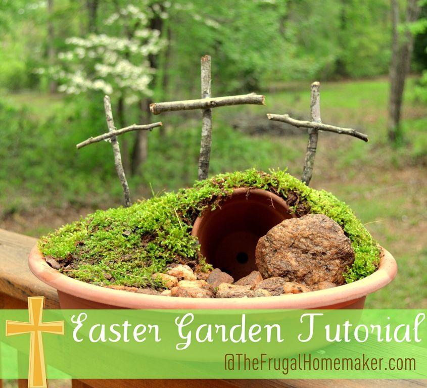 Easter Garden Tutorial Easter Centerpiece Easter Table Decor