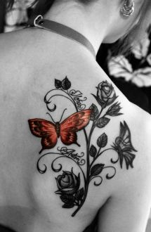 Tattoo Design Women With Childrens Names