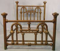 Found on EstateSales.NET: 551 - Antique high back brass ...