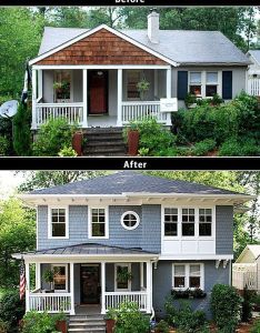 Second floor additions before and after bing images also love the look of this story addition on  ranch remodel rh pinterest