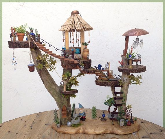 5 Floor Tree House For A Garden Gnome Or Fairy Furniture And