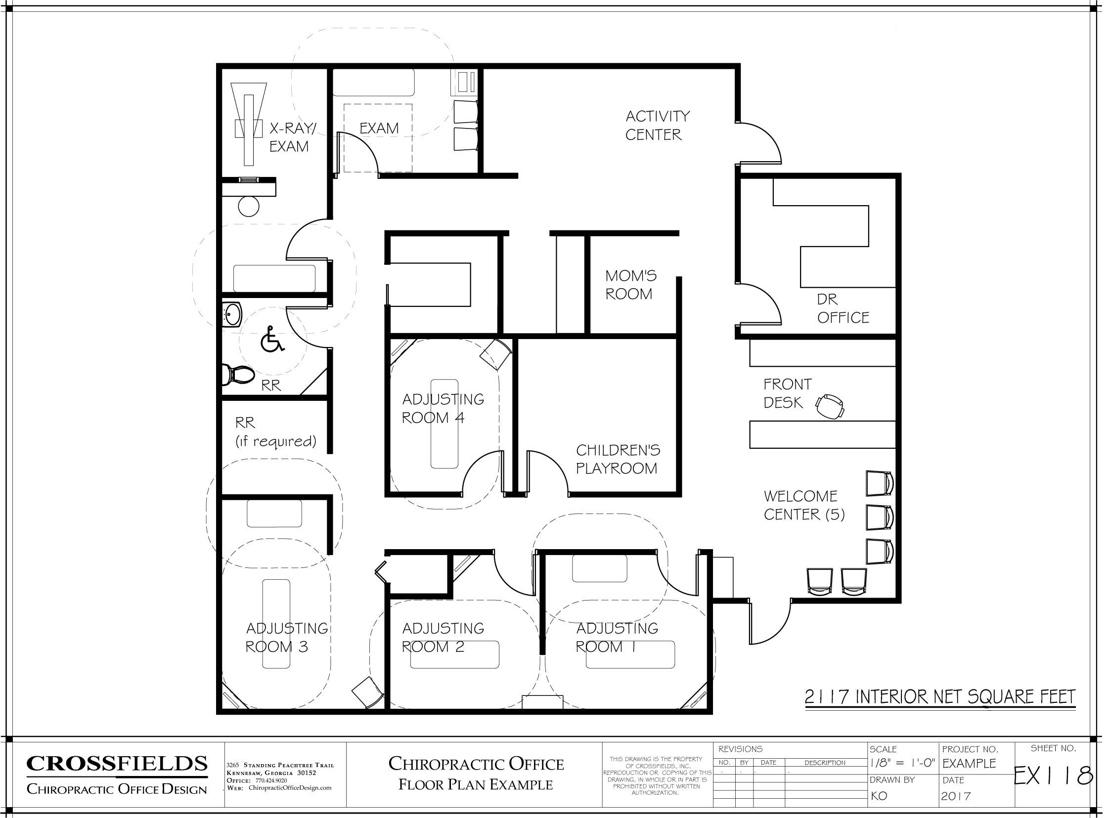 Chiropractic Clinic Floor Plan Example With Closed