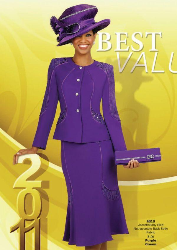 Champagne Italy 4018 Purple Cream Church Dress Skirt