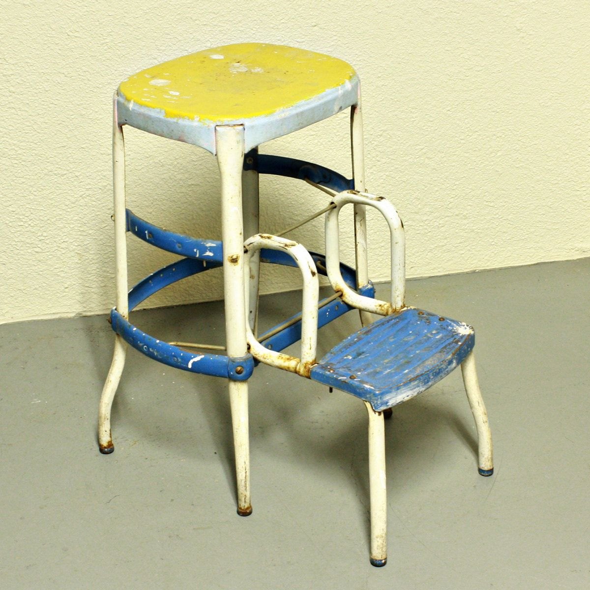 old fashioned kitchen chair step stool commercial door vintage cosco