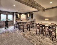 Basement Finish, Basement Bar, Wood Look Tile, Shiplap ...