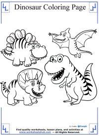 malvorlagen dinosaurier triceratops