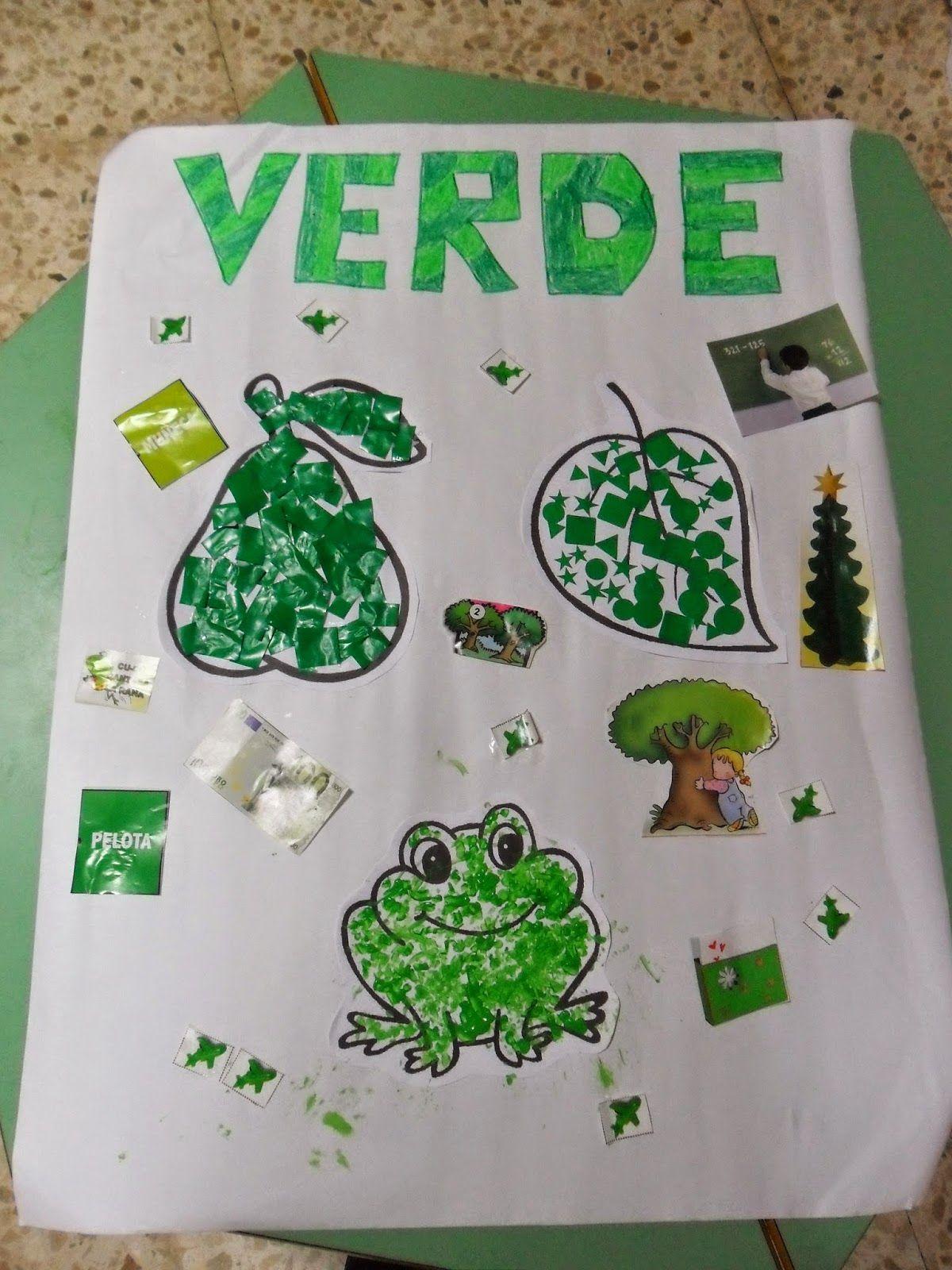 Materiales Para Educacion Infantil Mural Color Verde