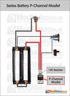 Series Battery PChannel Mosfet Wiring Diagram | Vaporized | Pinterest | Vape