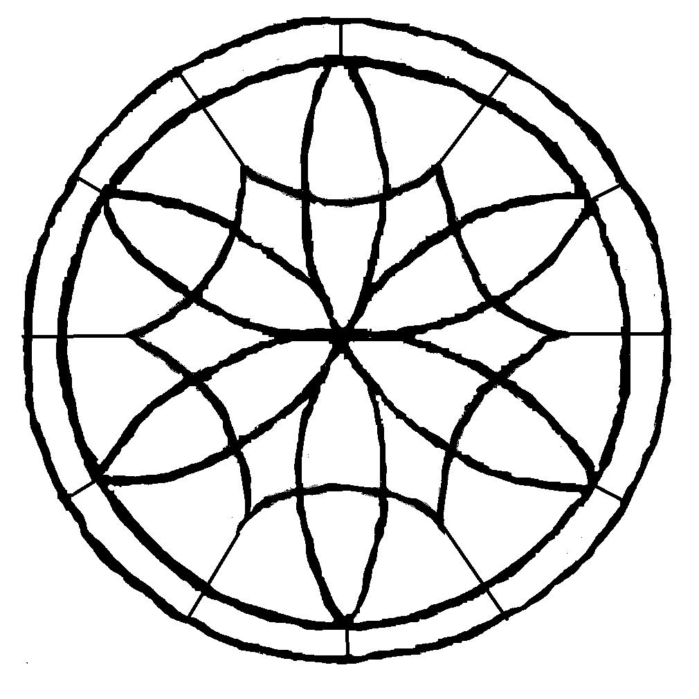 Art-Gallery on Violtan. Circular window pattern