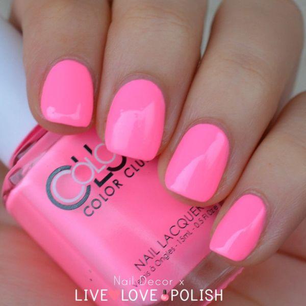 neon pink nail polish httpwwwlivelovepolishcom
