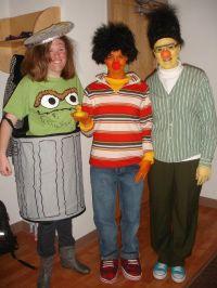 Homemade Halloween costumes! Bert,Ernie and Oscar the ...