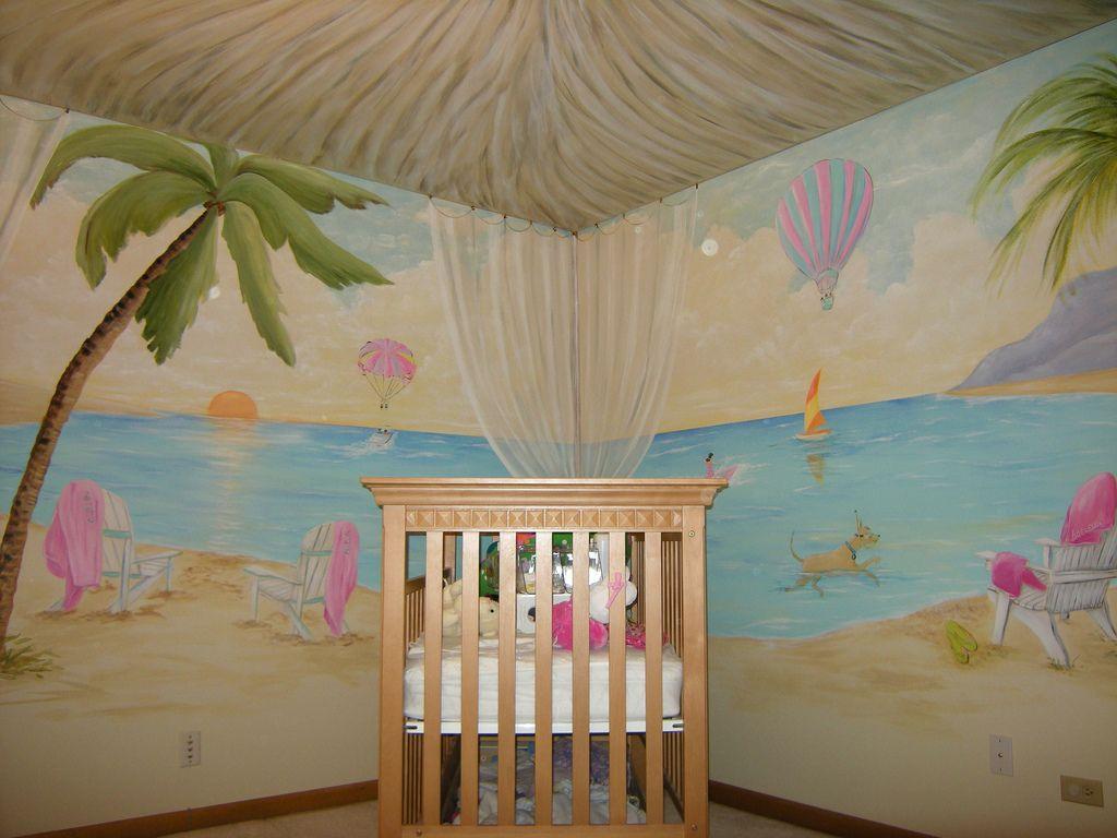 Girl Nursery With Wallpaper Best 25 Tropical Nursery Ideas On Pinterest Nursery