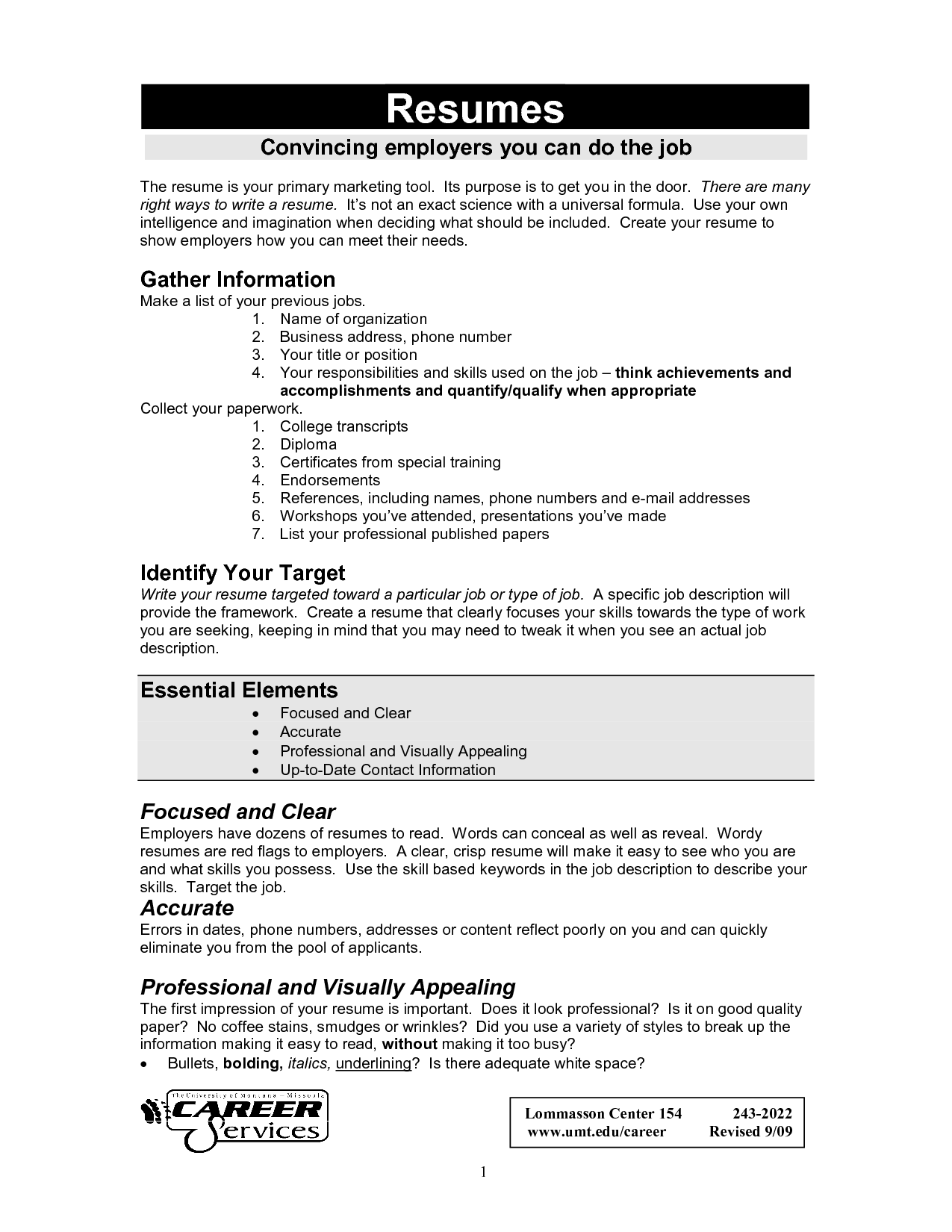 Job Resume Examples And Samples Examples Of Resumes