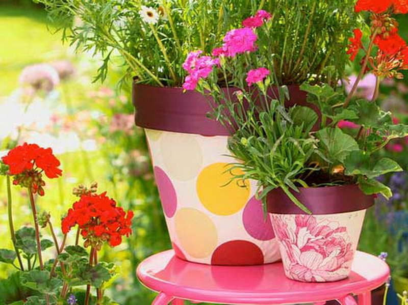 Flower Pot Ideas Gardening Flower Pots Decoration Ideas With