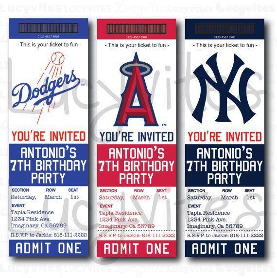 Baseball Ticket Template Printable