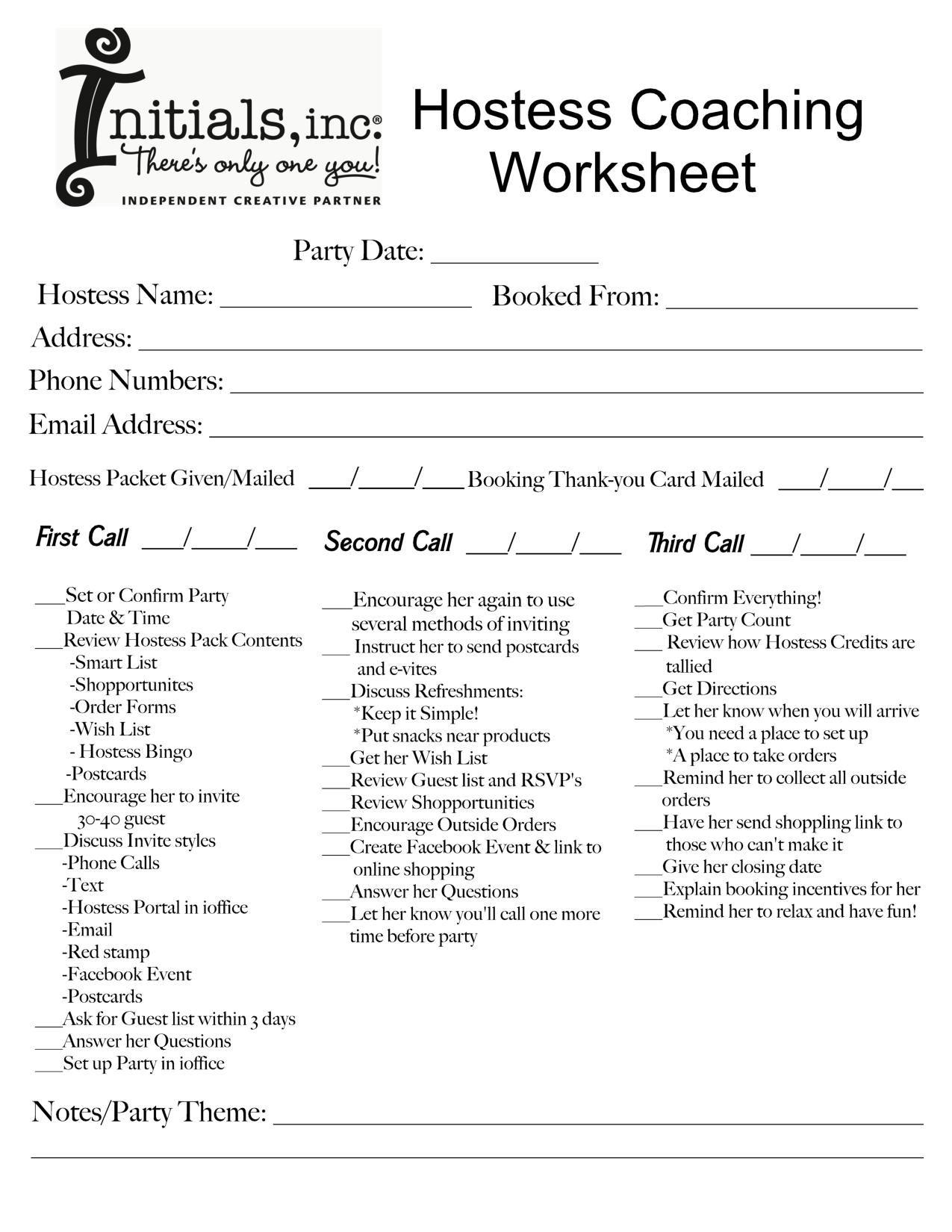 Coaching Plan Worksheet
