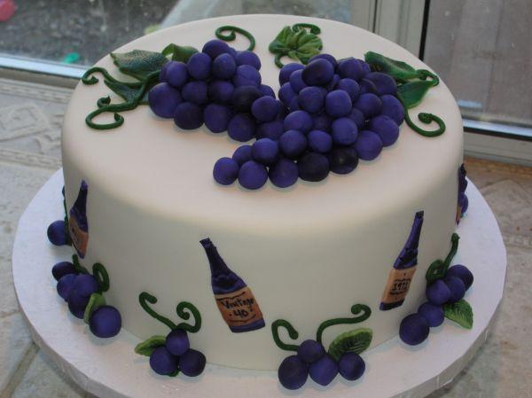 Grape And Wine Themed - Fun Cake