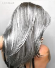 super sexy silver gray hair #hairdare