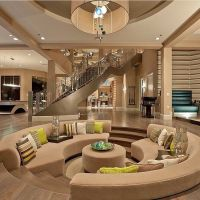 Modern Mansion Living Room