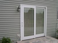 charming pella sliding glass doors with blinds inside at ...