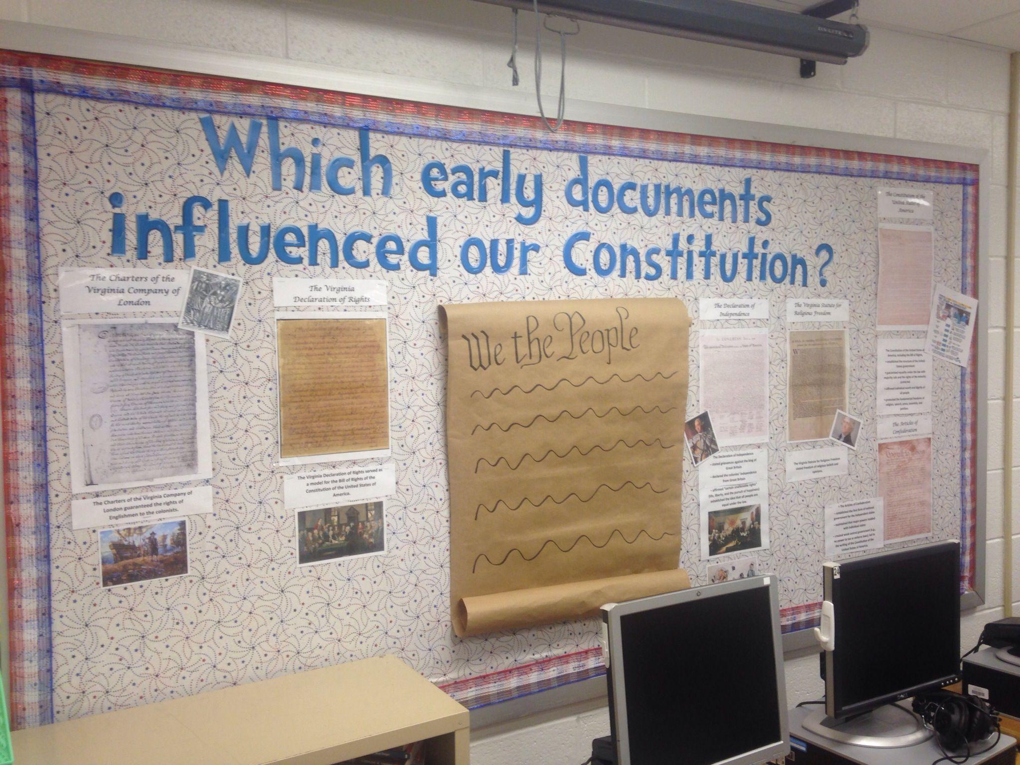 Civics Bulletin Board Based Upon Va Sol Ce 2b Documents