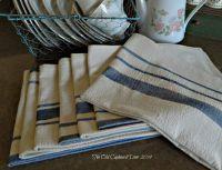 The Old Cupboard Door: Grain Sack Tea Towels | The Old ...