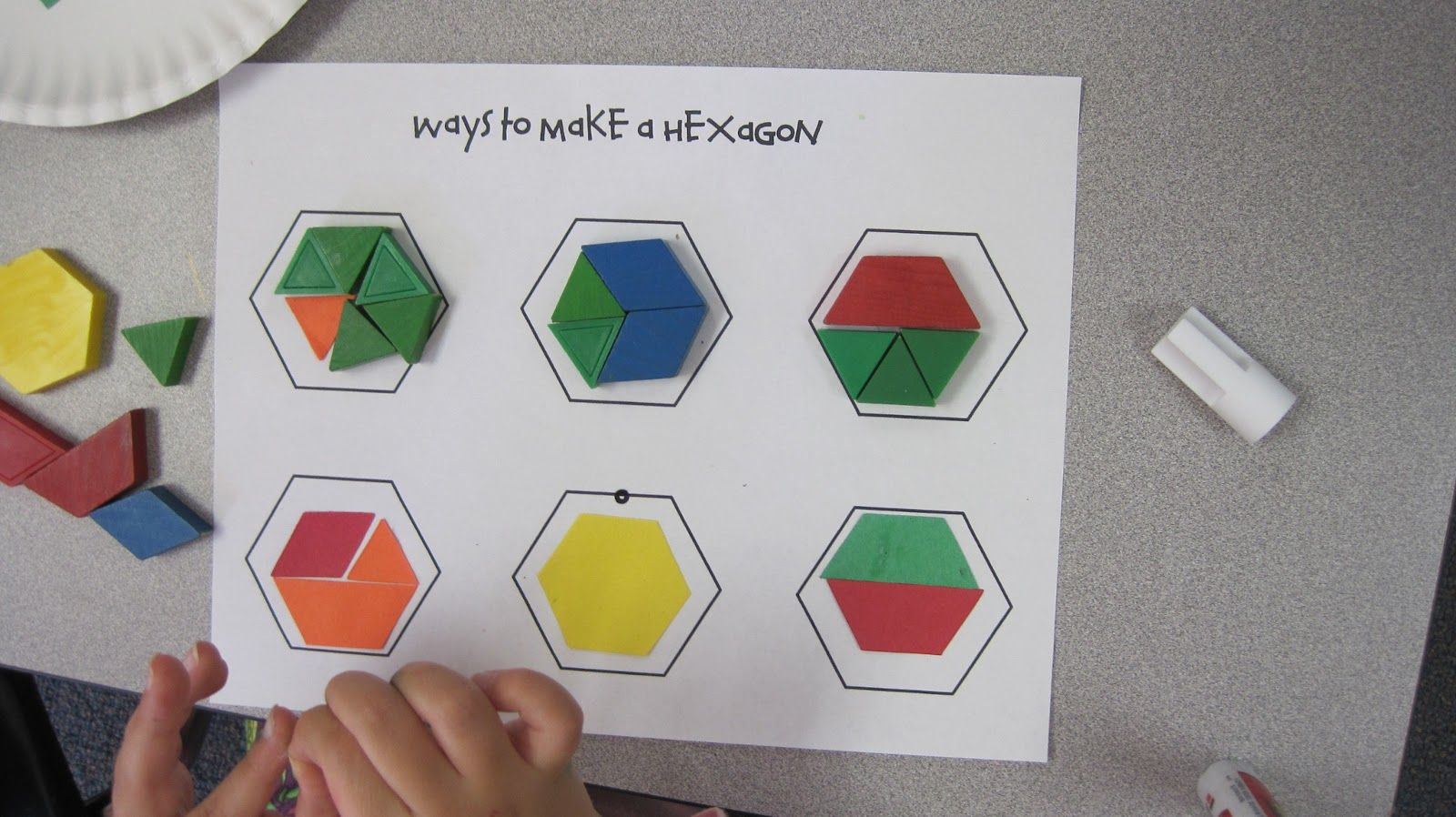 Hexagon Pattern Blocks Activity Worksheets