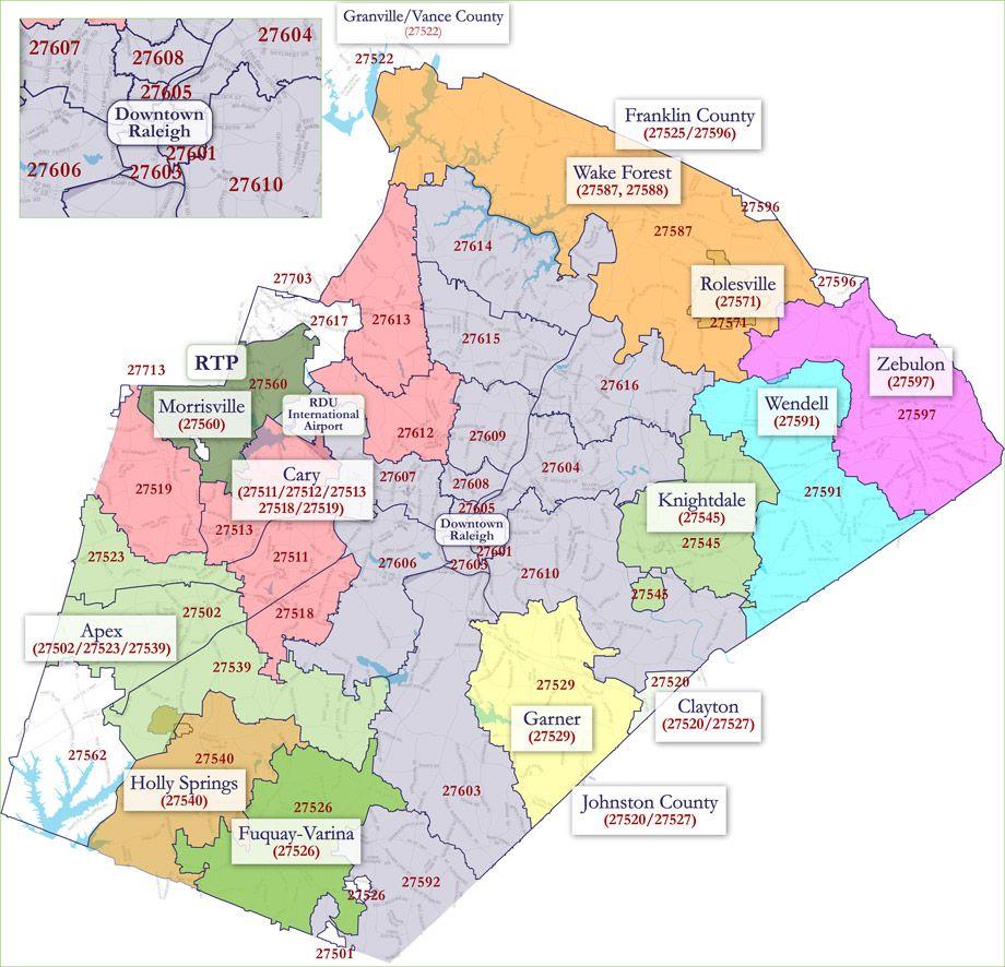 County Code Nc Map Orange Zip