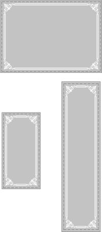 decorative-glass-etched-border | Stencils | Pinterest ...