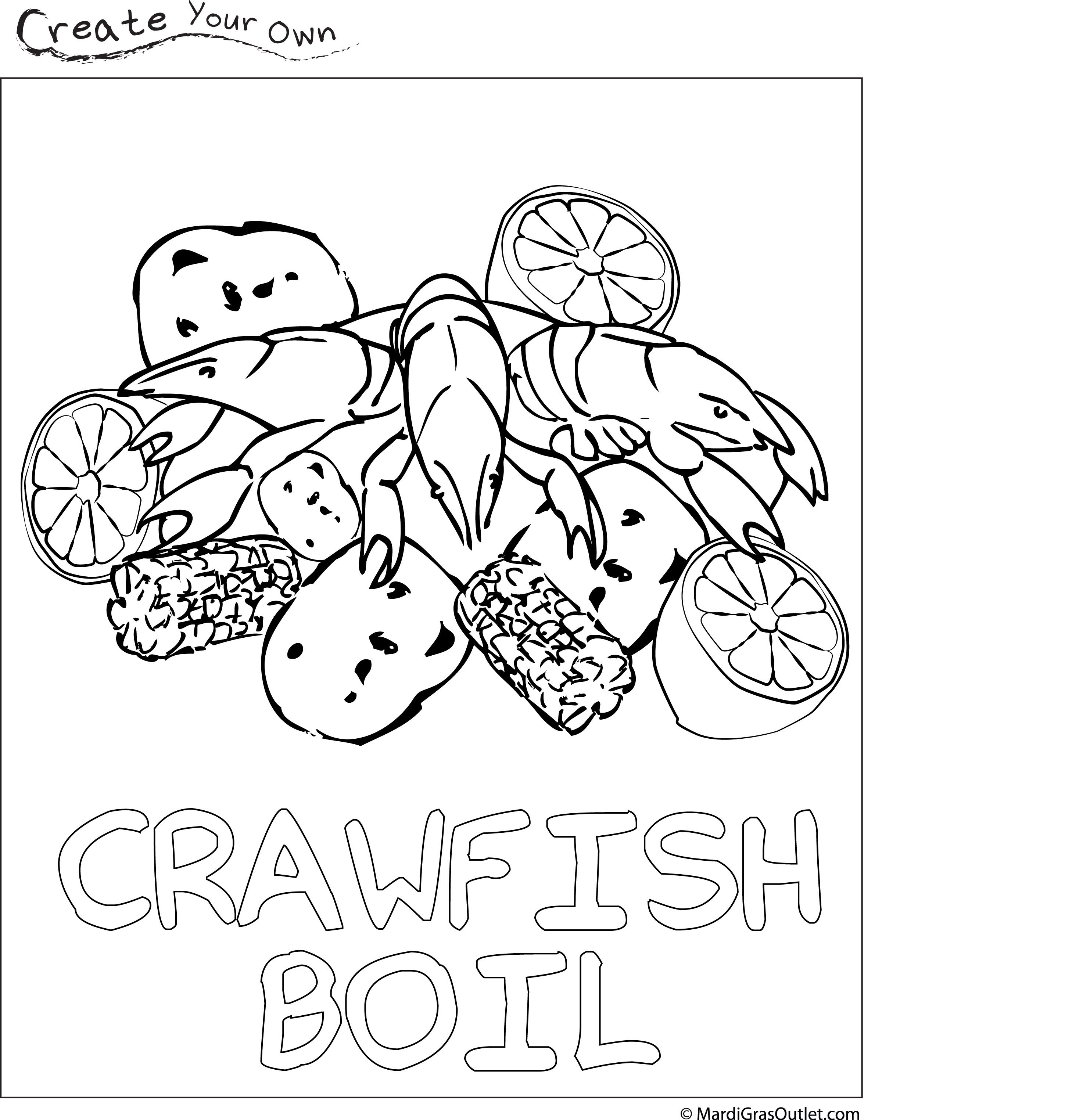 Crawfish Boil Coloring Page Free Download