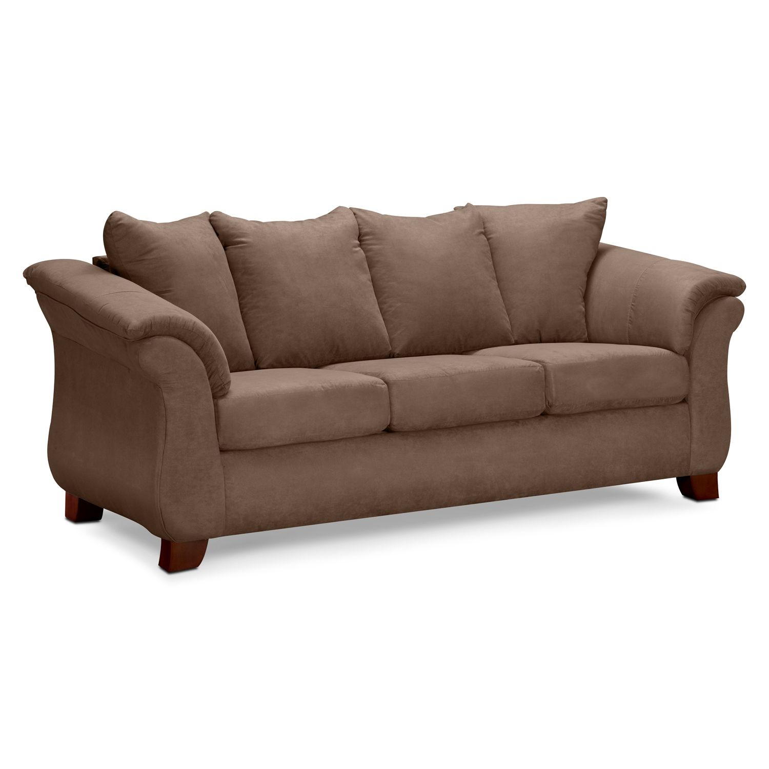 Brown Couch For Brown Red Color Scheme Sunroom Pinterest