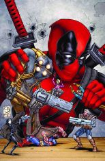 Image result for Deadpool playing with toys