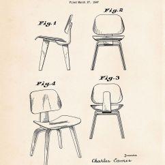 Chair Design Patent Wobble 1947 Eames Modern Retro Mid Century Furniture