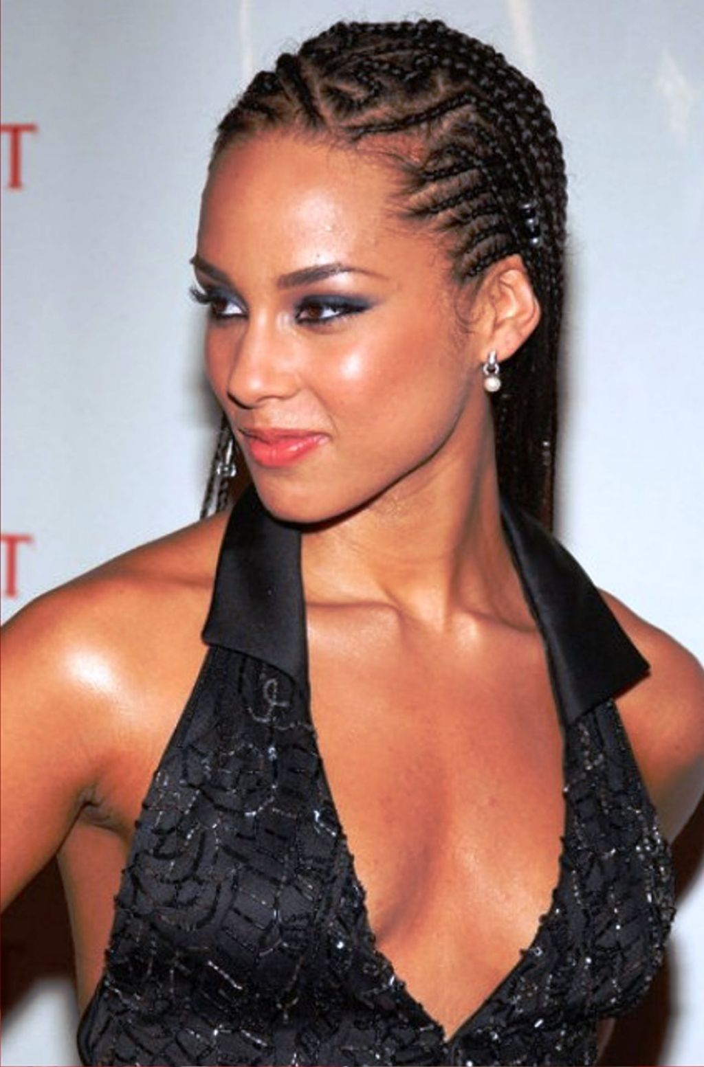 Alicia Keys Cornrow Braid Hairstyle Coiffure Afro Pinterest