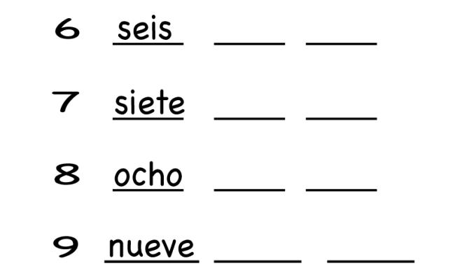 Kindergarten Spanish Number Worksheet Printable Teaching