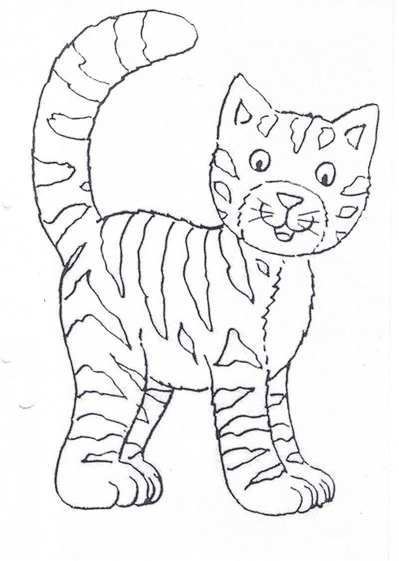 Katze ausmalbild - Ausmalbilder für kinder malen