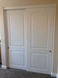 2 Panel / 2 Track Hollow Core MDF Bypass (Sliding) Closet ...