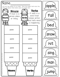 Nouns and Verbs Scoops | Grammar | Pinterest | Language ...