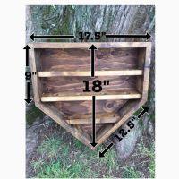 Wooden Home Plate Baseball Shelf Display Holder by ...