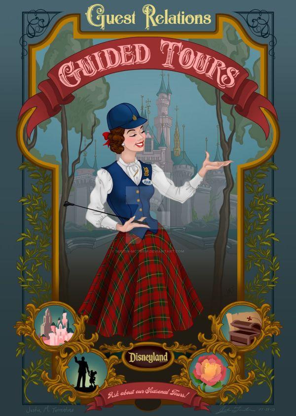 Disneyland Tour Guide Art - Google Disney