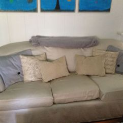 How To Recover A Sofa Without Sewing Charcoal Grey Sofas Recovered Couch With King Size Sheets And Staple Gun