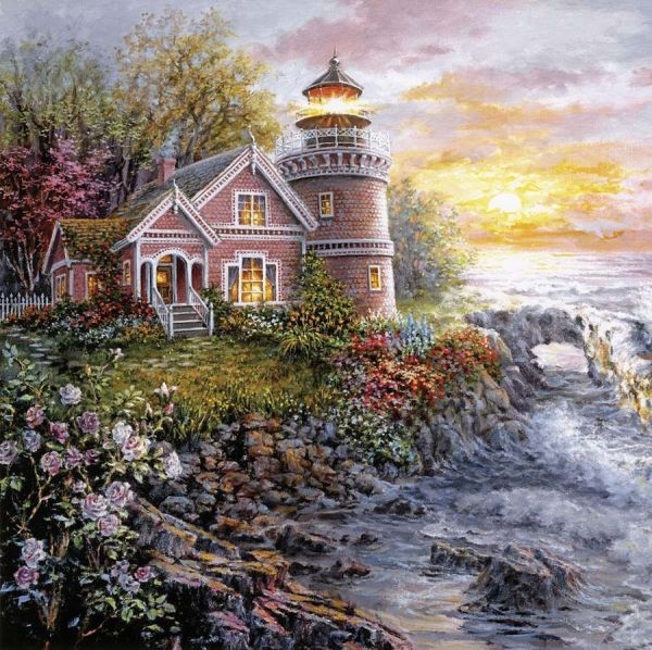 Nicky Boehme Lighthouse Painting