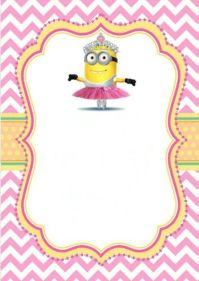 Printable girl minion party invitation. You are welcome ...