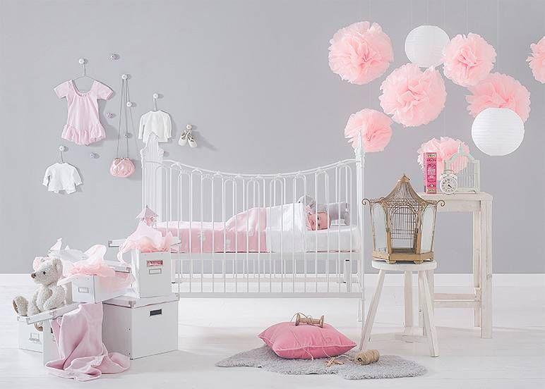 Inspiratie roze meisjeskamer  baby stuff  Pinterest
