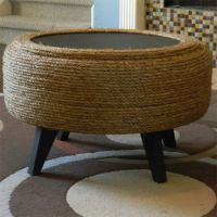 rope string tyre ottoman | DIY/ Decor | Pinterest | Tire ...