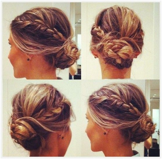 10 Trendy Messy Braid Bun Updos Updo Braid Buns And Braided Buns