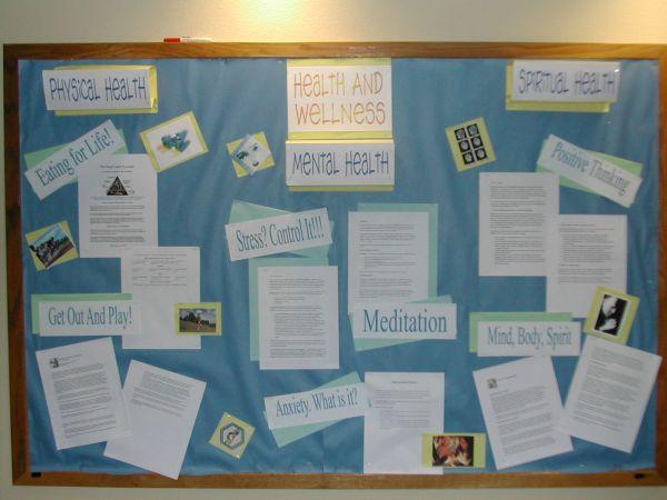 Health And Wellness Bulletin Board Work