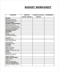 Monthly Budget Worksheet , Simple Monthly Budget Template