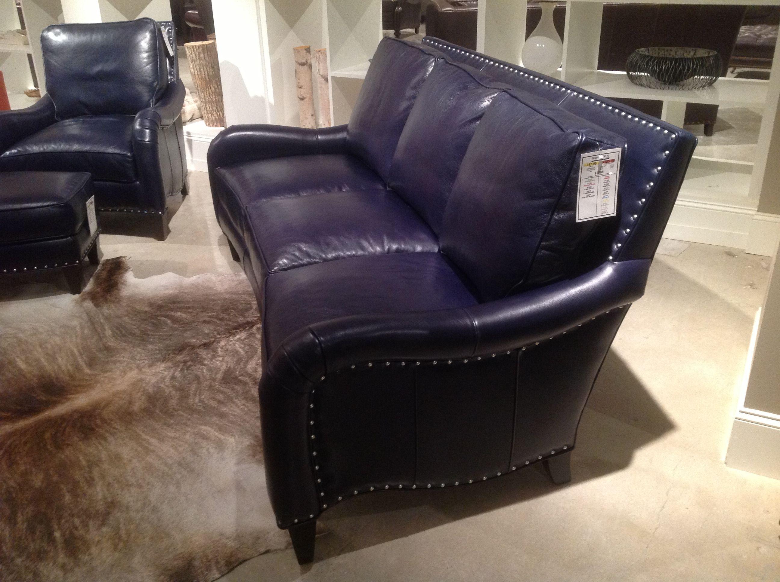 blue leather sofas clark rubber bondi sofa bed decoration livingroom