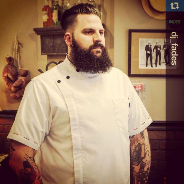 Custom Barber Smock #sartorandvillain #customade #barber #